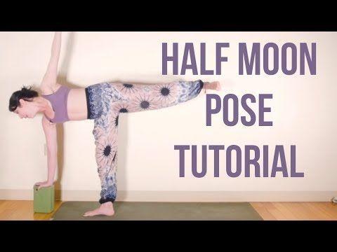 half moon yoga pose tutorial  sivana east  half moon