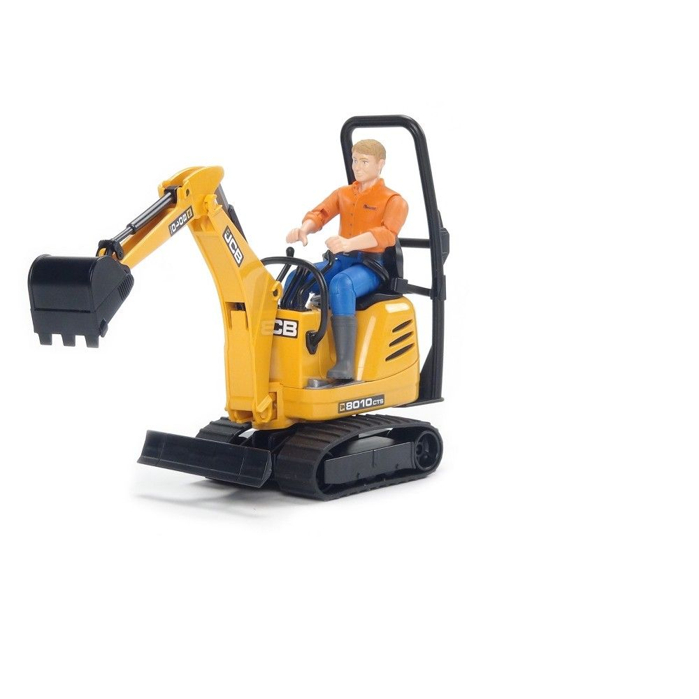 Bruder Toys Jcb Micro Excavator 8010 Cts And Construction Worker 1 16 Scale Realistic Functional Toy Construction Vehicle Construction Vehicles Excavator Construction Worker