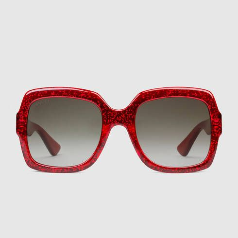 3845beaa4c GUCCI Oversize Square-Frame Acetate Sunglasses.  gucci  women s square    rectangle