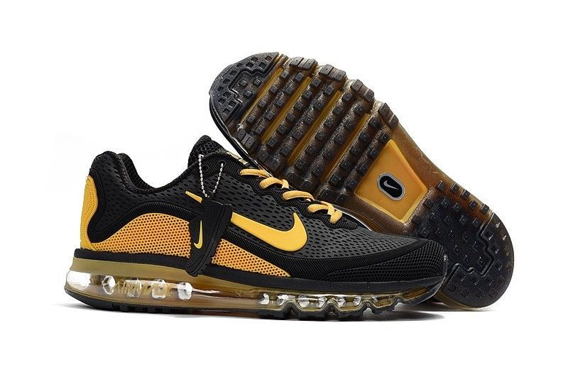 save off 5e933 7441a nike air max 2017 men s running trainers shoes Size 11 Black   Yellow   fashion  clothing  shoes  accessories  unisexclothingshoesaccs   unisexadultshoes ...