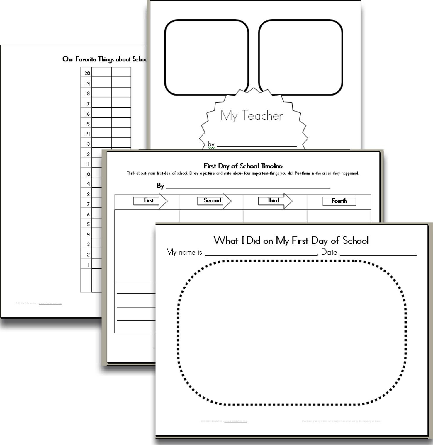 Back To School Resources From K2 Printables