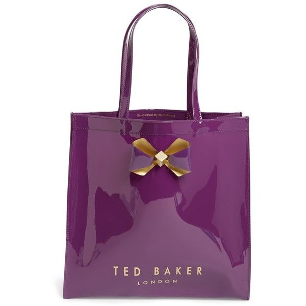 bef1708dc742a2 Ted Baker London  Large Plain Bow Icon  Tote ( 59) ❤ liked on Polyvore  featuring bags