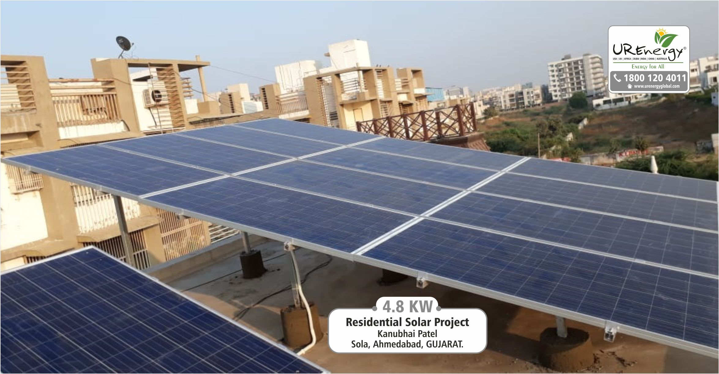 4 8 Kw Residential Rooftop Solar Panel Installed By U R Energy Team At Ahmedabad Gujarat India Residential Commer Solar Solar Water Pump Solar Panels