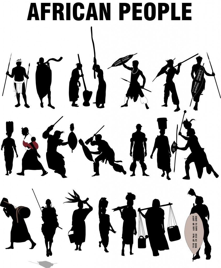 African People Silhouettes African People African Warrior Tattoos African Tattoo