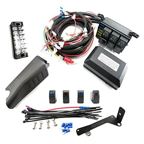 Electronic Control System For Jeep Wrangler 4 Switch Led Lights