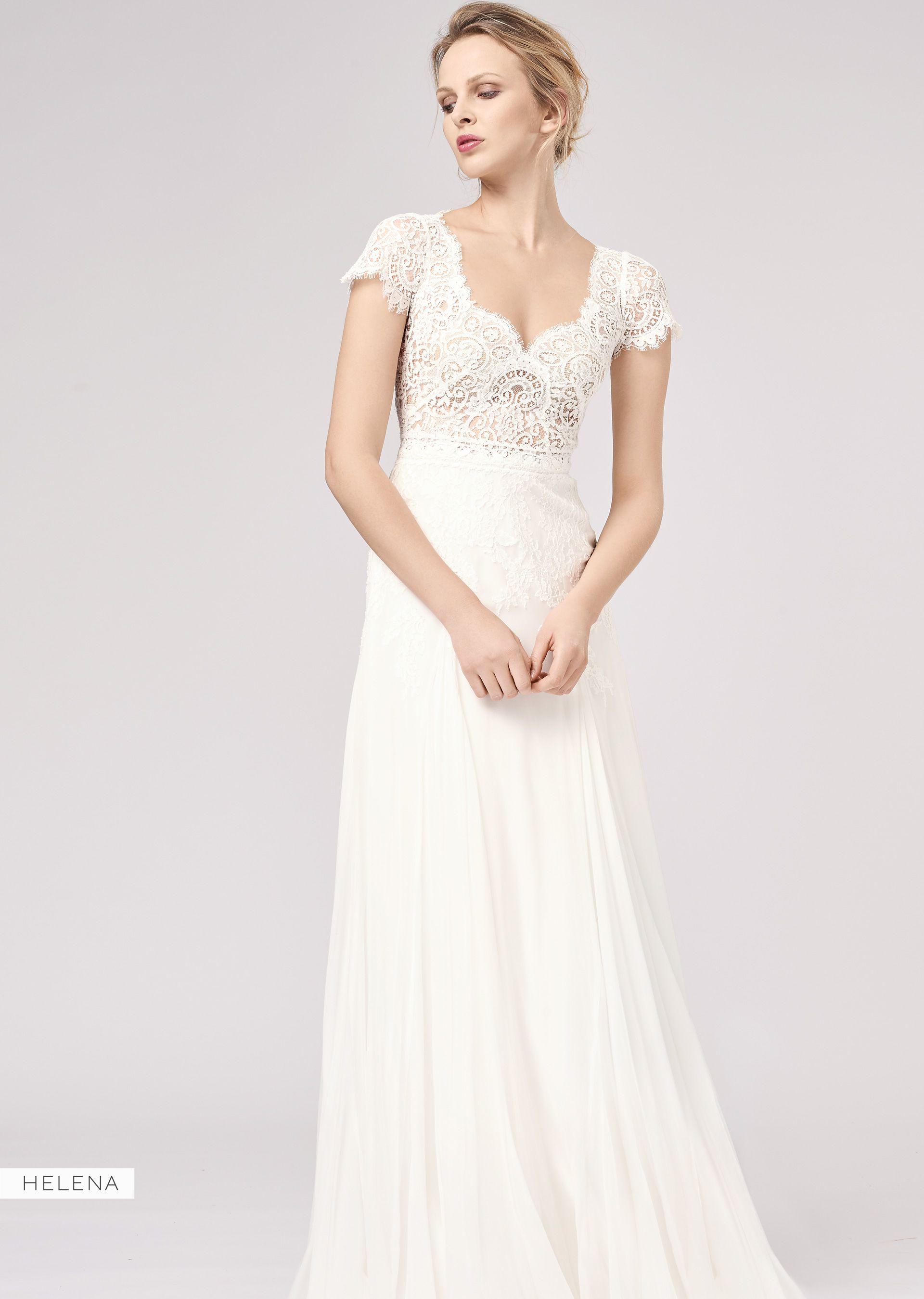 Helena Vintage mit starker Spitze  Brautkleider 15, Brautmode