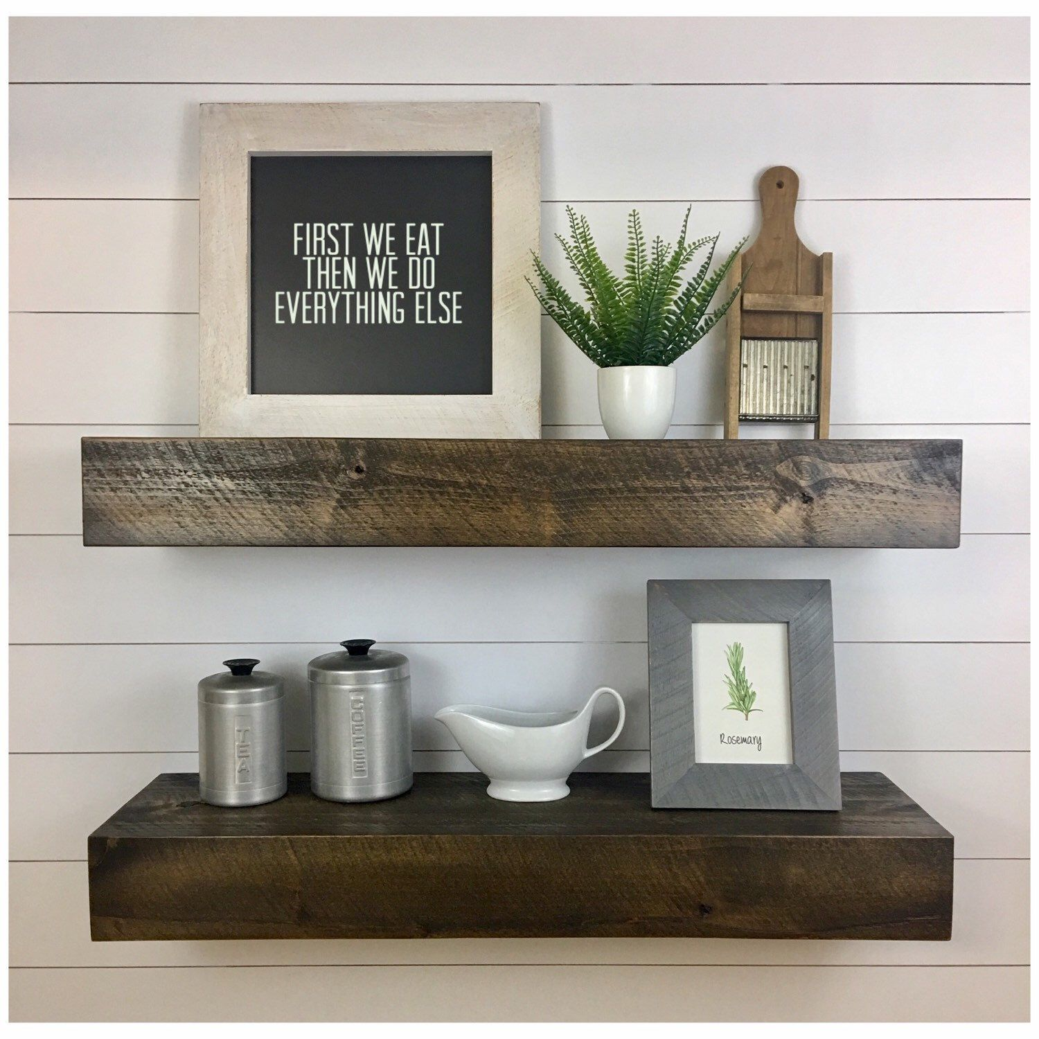 Set Of Two Modern Rustic Floating Deep Shelves Floating Shelves Floating Shelf Deep Floating Shelf Wood Shelf Kitchen Shelf Floating Shelves Rustic Wood Floating Shelves Rustic Floating Shelves