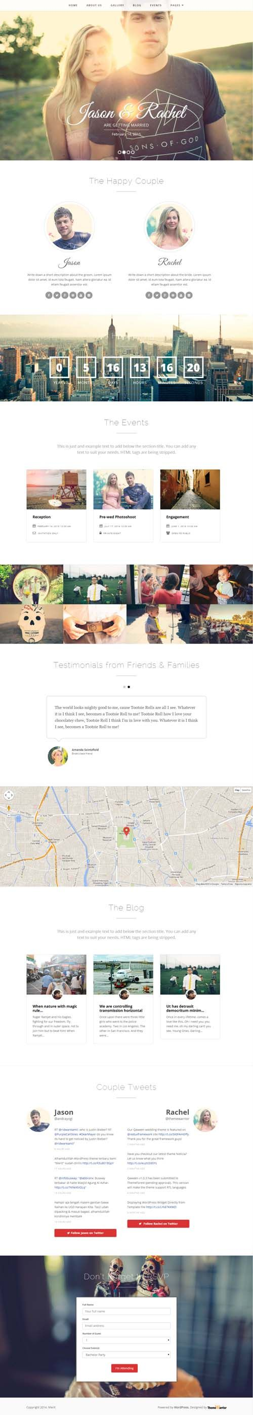 Merit - Responsive WordPress Wedding Theme | Pinterest | Wordpress ...