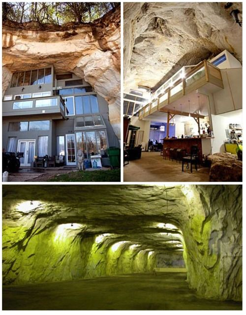 Cave Mansion Underground Homes Unique Houses Cave House