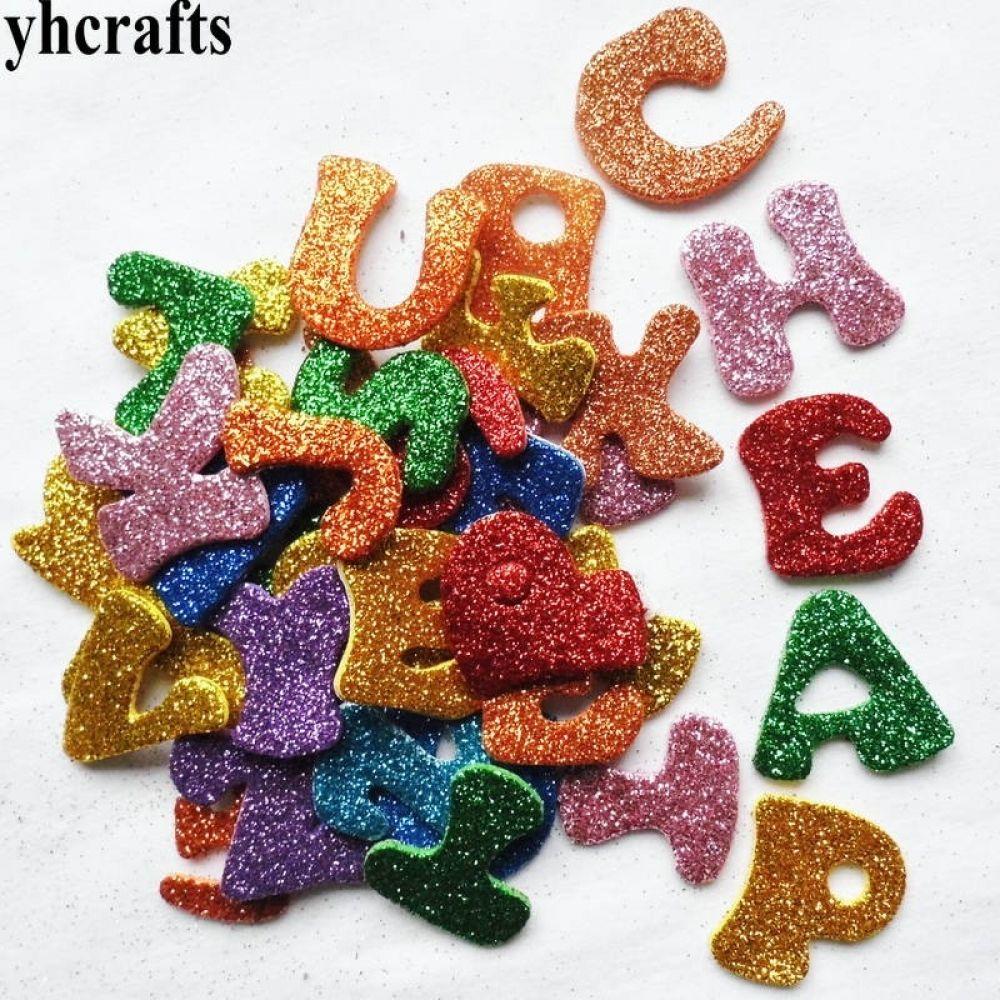 50pcs Adhesive Felt Letters Felt Alphabet Stickers for DIY Craft Ornaments