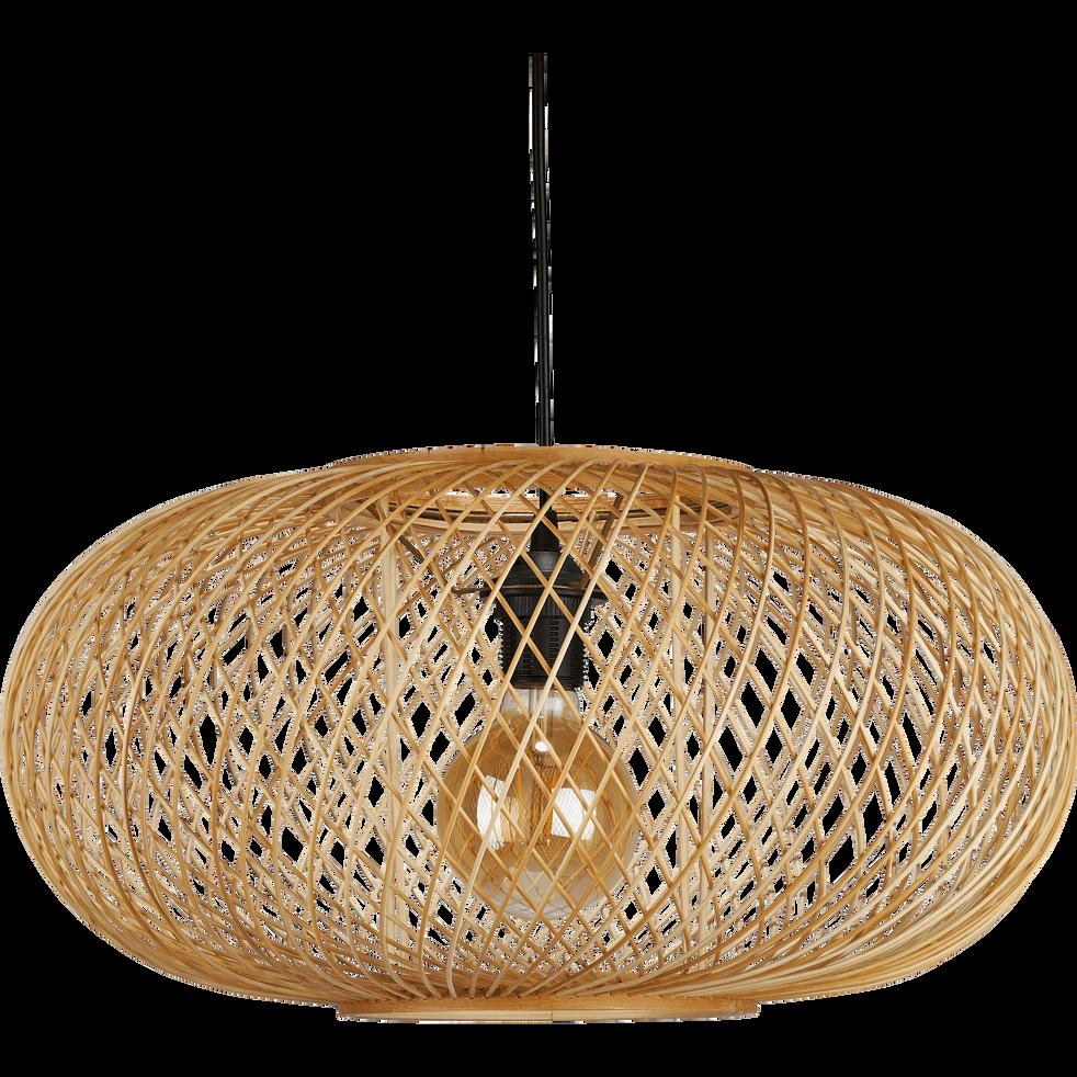 Rouvia Suspension En Bambou D48xh25cm Suspension Luminaire