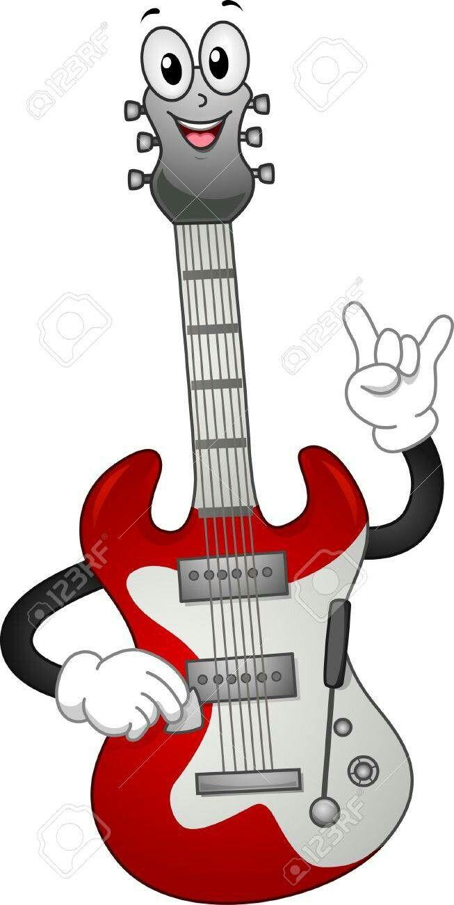 Pin De Hemilse Mariel Em Cosas Divertidas Guitarra Desenho