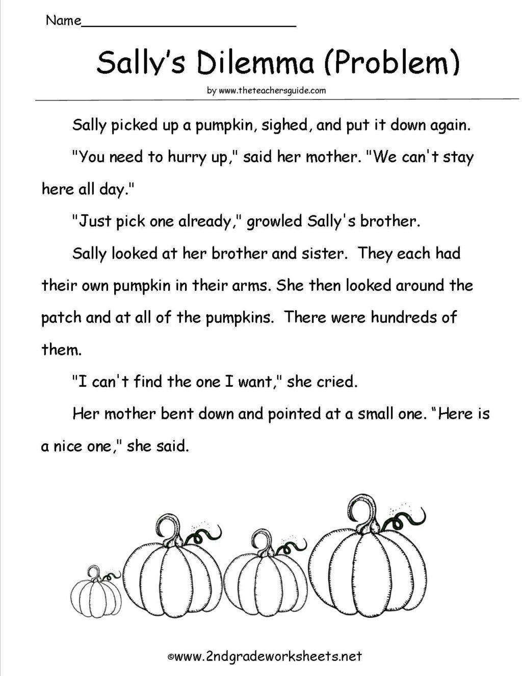 hight resolution of Halloween Reading Comprehension Worksheets Pdf Worksheet Sallysproblem Halloween  Worksheets…   Halloween worksheets