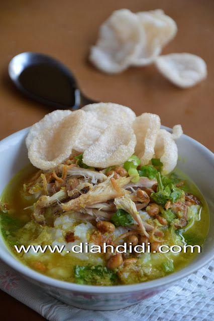 Diah Didi S Kitchen Tips Membuat Bubur Ayam Resep Masakan Masakan Resep Makanan Asia