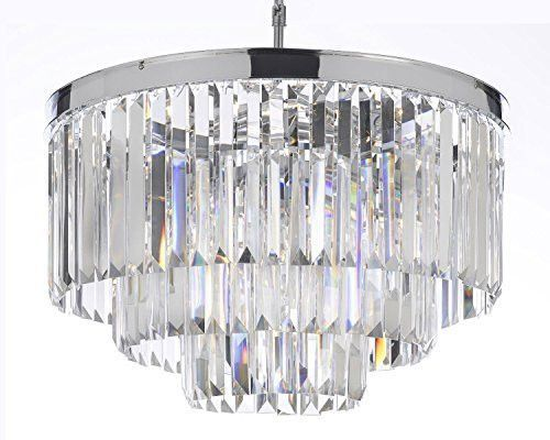 Odeon Empress Crystal (Tm) Glass Fringe 3-Tier Chandelier Lighting Chrome Finish - G7-2164/9