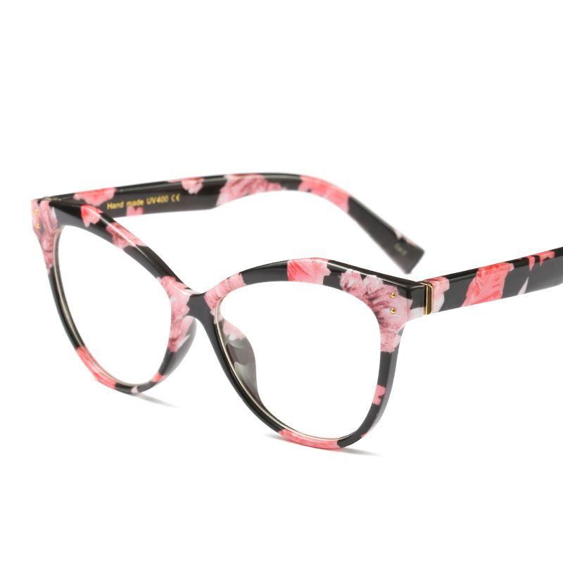 cd95efba9d5 Emosnia New Korean Sunglasses Cat Eye Glasses Frames Women Vintage Optical  Computer Protection brand Design Eyewear 2018 UV