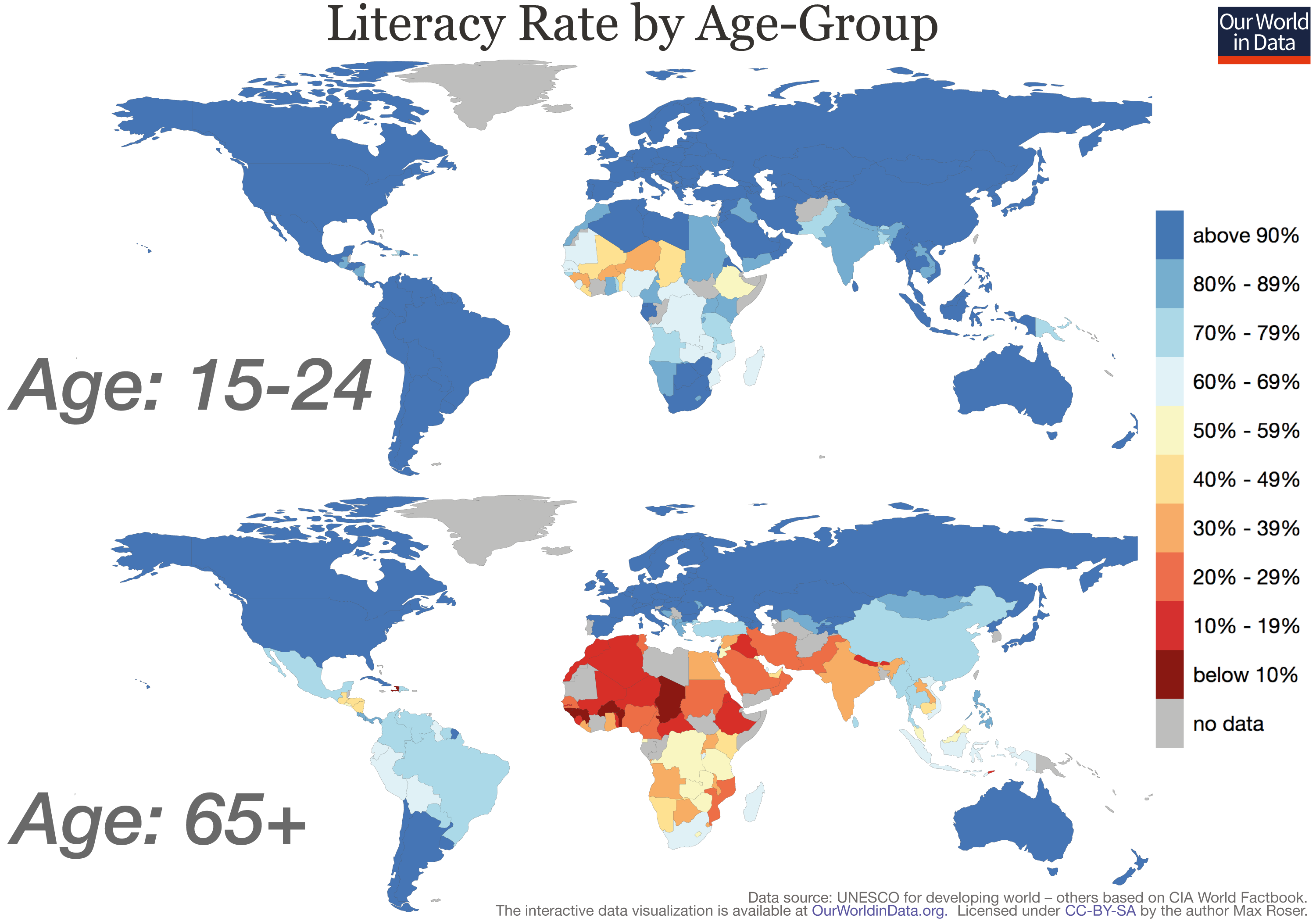 Literacy Rate By Generation World Map World Maps Pinterest - Atheism prevalence map us