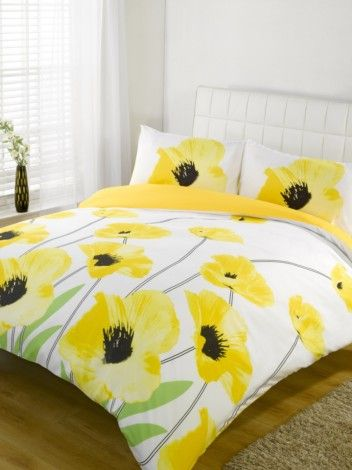 Amapola Yellow Duvet Quilt Cover Set Single Double King Super King Bedding Ebay White Duvet Covers Duvet Covers Yellow Yellow Bedding