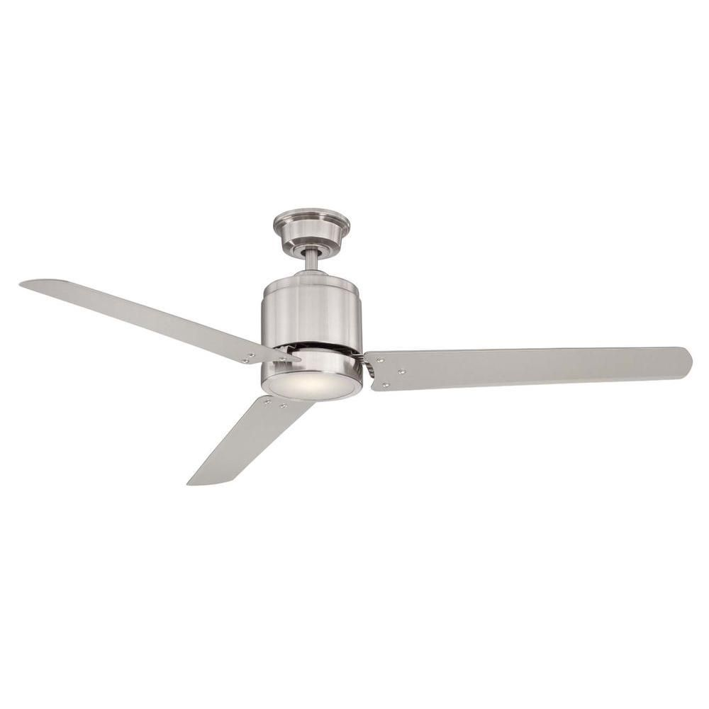 Home decorators collection railey 60 in led indoor - Bedroom ceiling fans with remote control ...