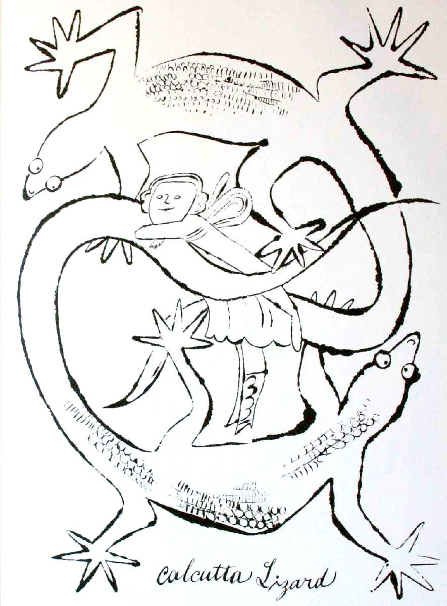 Andy Warhol Calcutta Lizard coloring book Pinterest Warhol