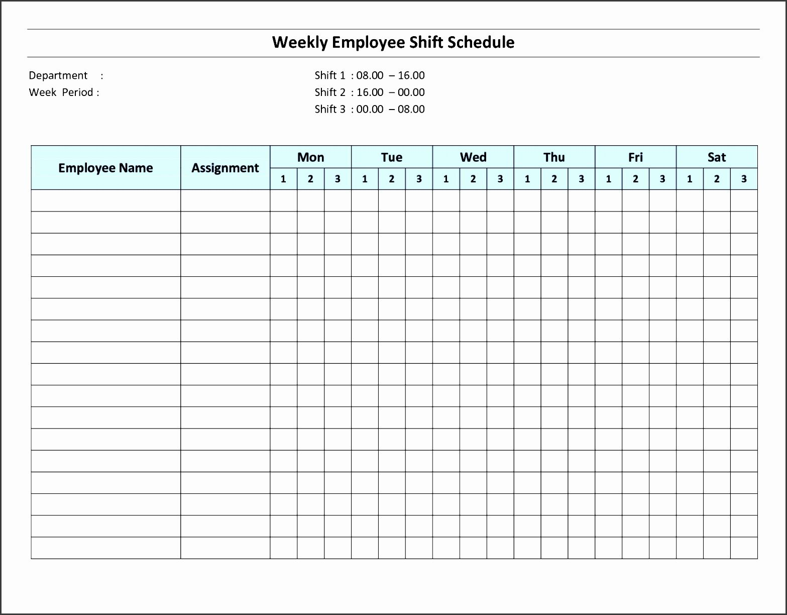 Schedule for Employees Template Luxury 8 Daily Schedule