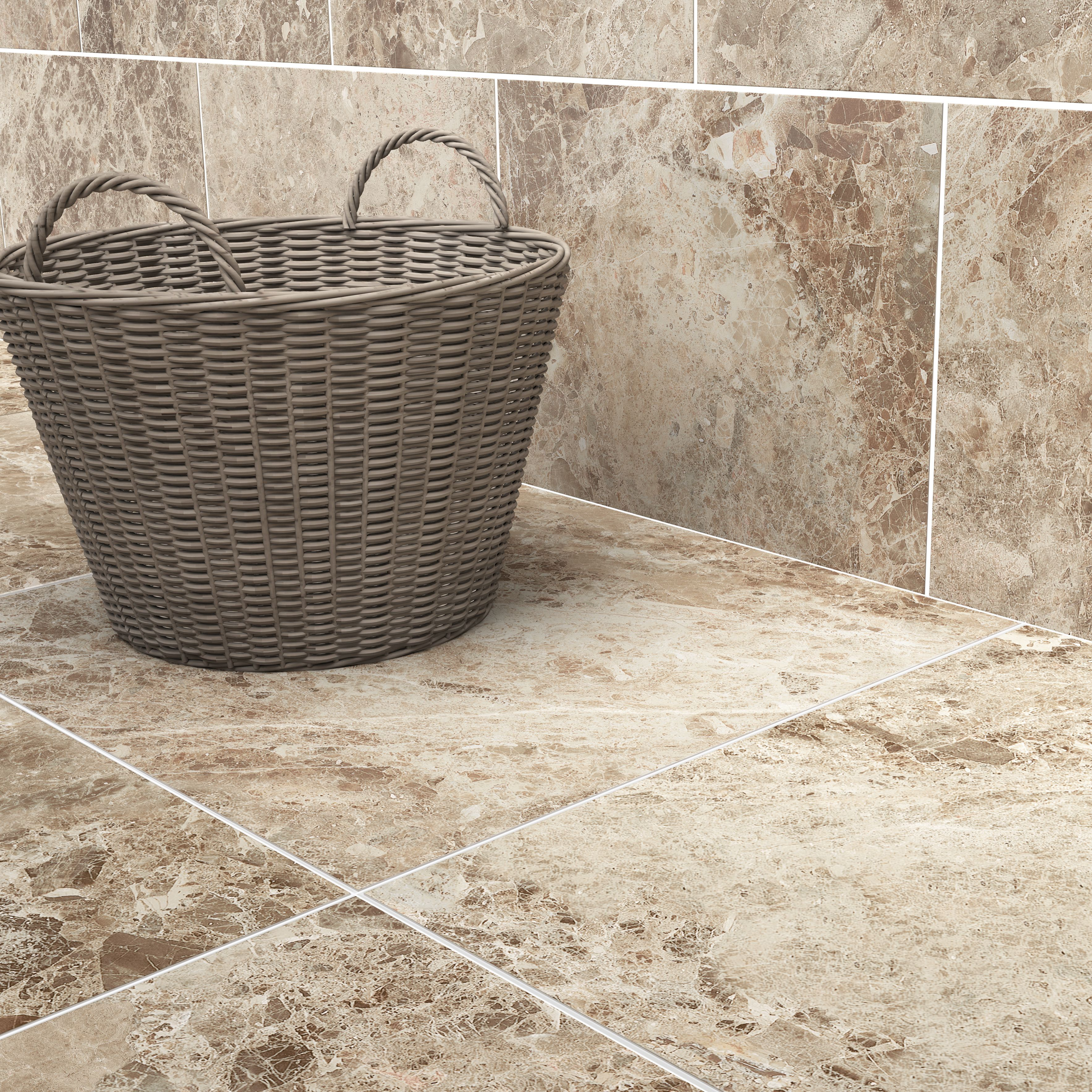 Illusion brown marble effect ceramic wall floor tile pack of 10 illusion brown marble effect ceramic wall floor tile pack of bq for all your home and garden supplies and advice on all the latest diy trends ppazfo