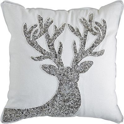 Pier 1 Imports Beaded Reindeer Pillow Silver Shopstyle