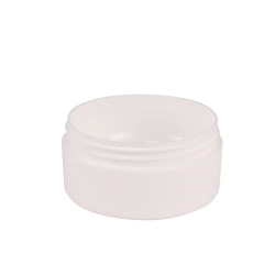 4 Oz White Frosted Double Wall Jar With 89mm Neck Cap Sold Separately U S Plastic Corp Jar Double Walled Frost