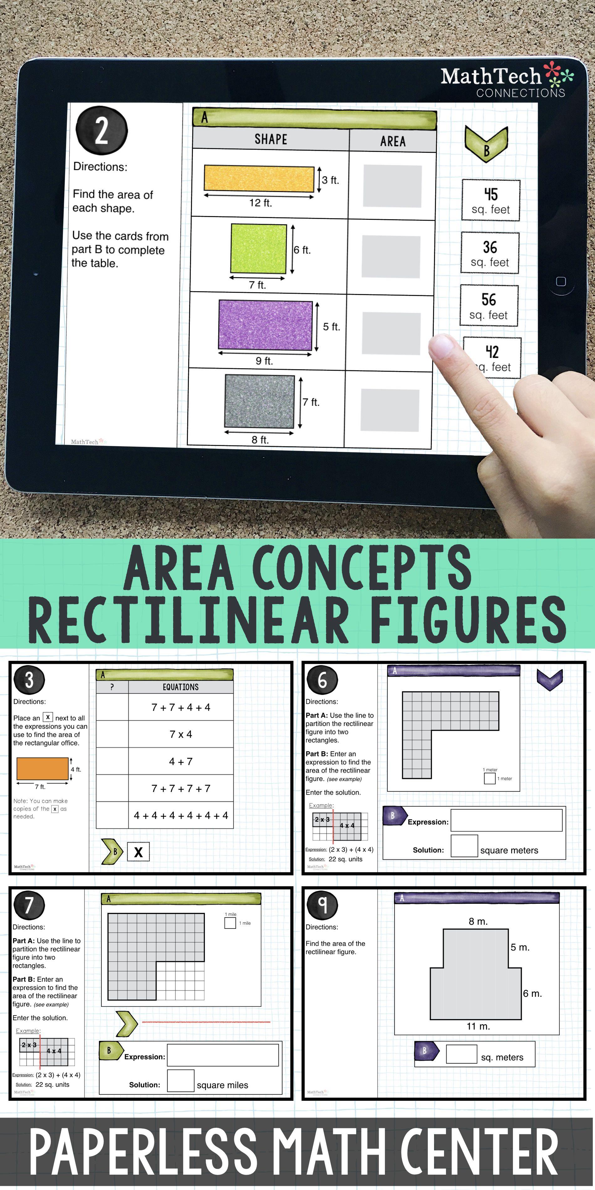 Area Of Rectilinear Figures