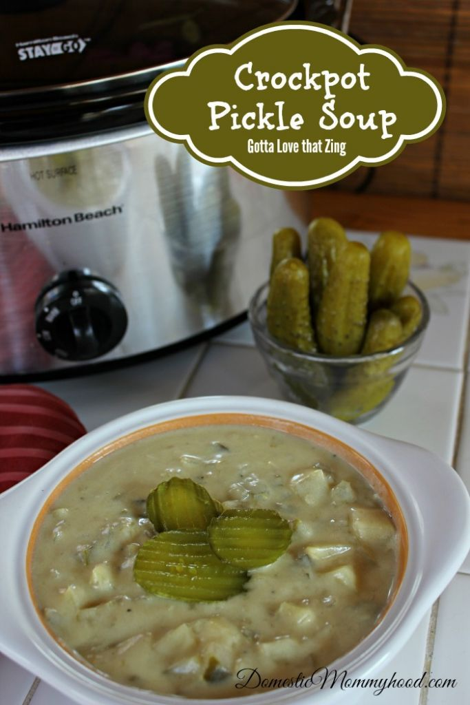Crockpot Pickle Soup - sound weird, but would get me major mommy points with the kids.