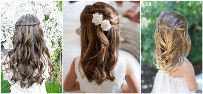 Flower Girl Hairstyles Fascinating 22Adorableflowergirlhairstylestogetimspired 650×300 Pixe