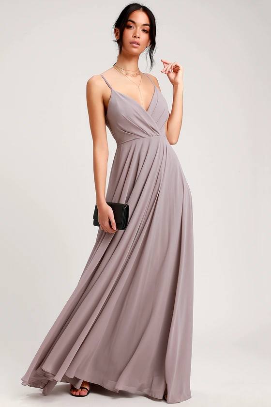 All About Love Taupe Maxi Dress With Images Taupe Maxi Dress Lulus Bridesmaid Dresses Taupe Bridesmaid Dresses