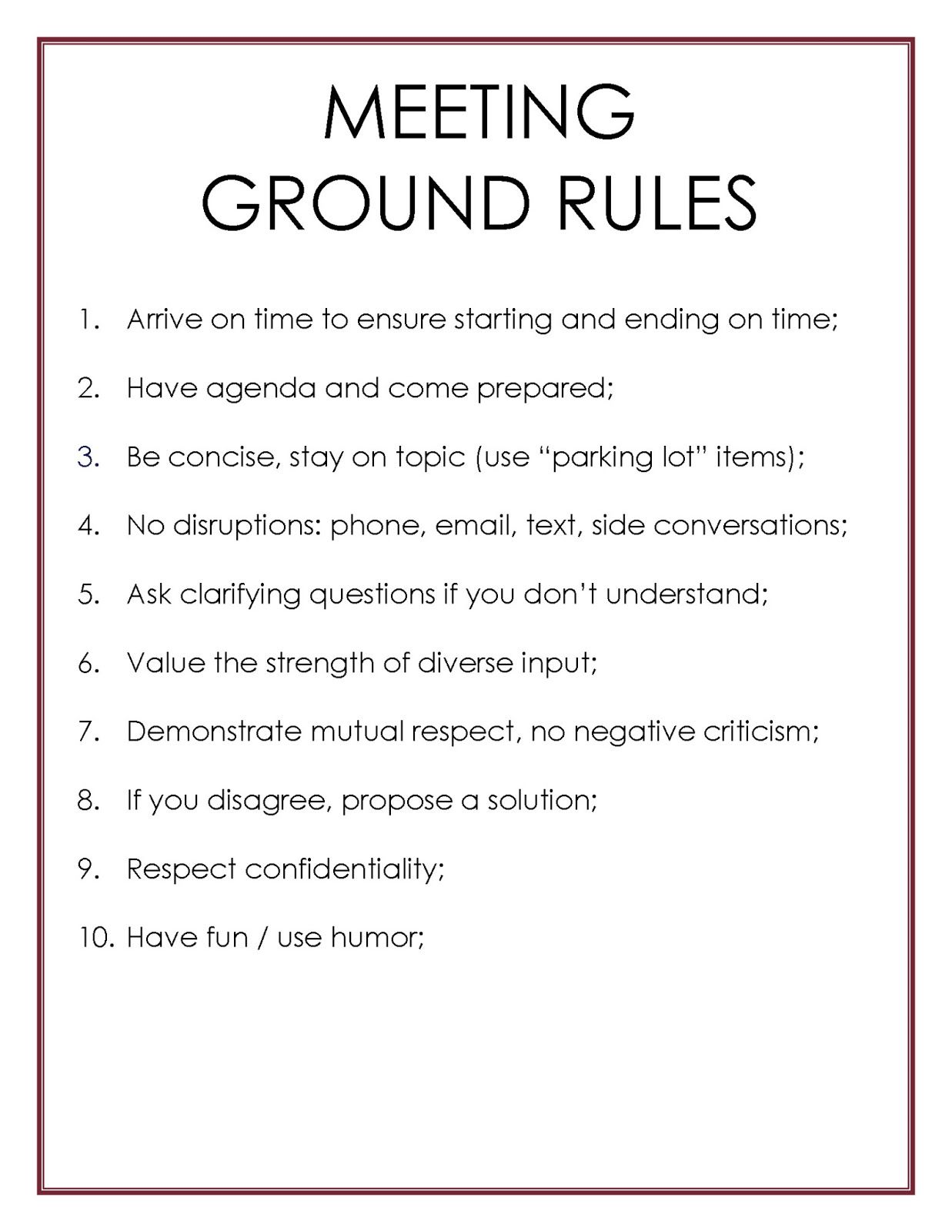 Mycoachken Meetings Ground Rules