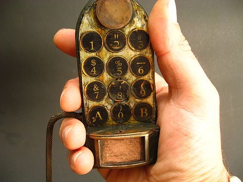 Steampunk Mobile Phone Steam Punk Assemblage by urbandon by urban don, via Flickr