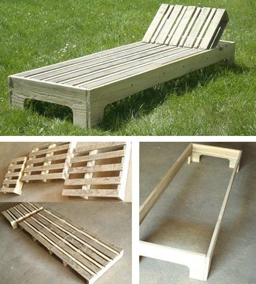 Pin By Catherine Croteau On Decorazioni Homemade Outdoor Furniture Patio Furniture Chaise Lounge Wooden Patio Furniture