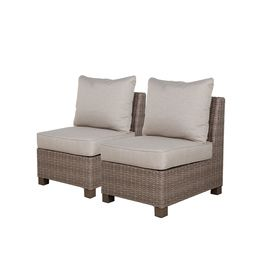 Allen + Roth Sea Palms Wicker Conversation Chair 710.098.004