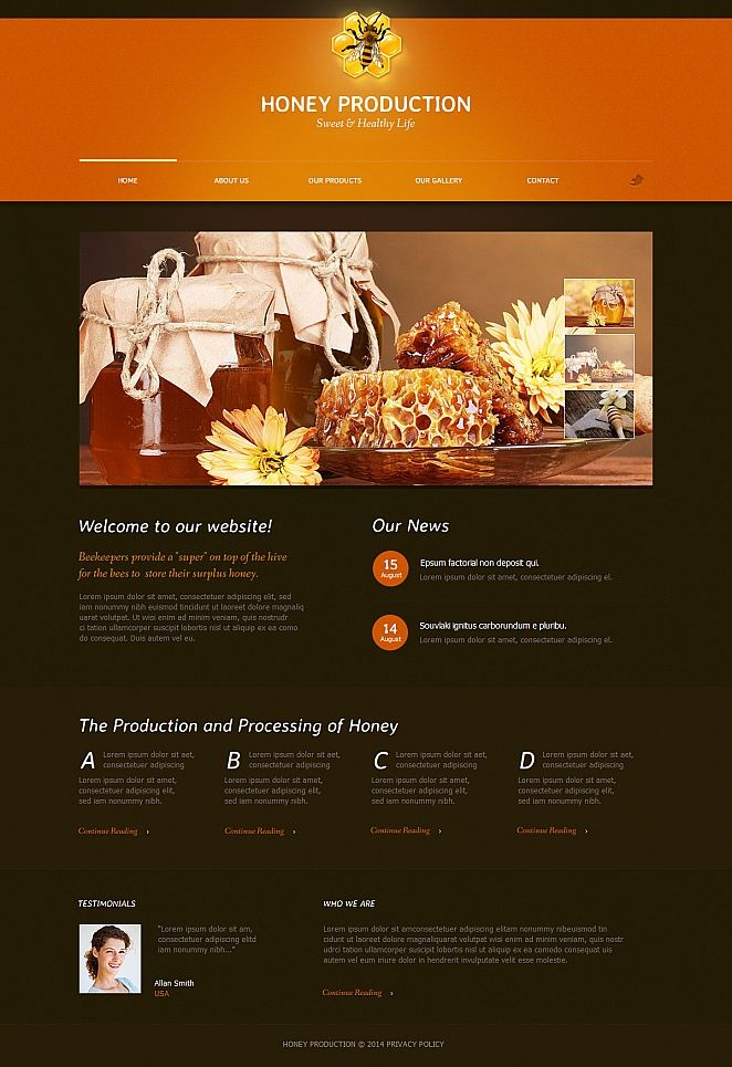 Honey Store Moto CMS HTML Template Template - Privacy policy html template