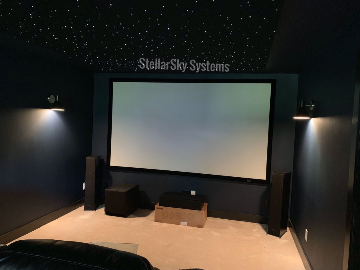 Home theater with Stellar star ceiling panels in 2020 ...