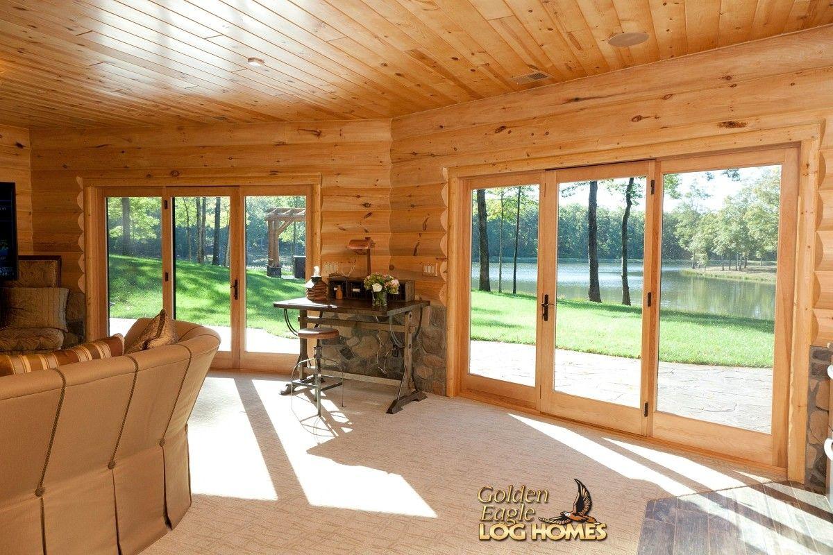 Exterior: Log Home By Golden Eagle Log Homes