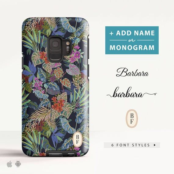 Tropical Pattern Samsung Galaxy S8 case Samsung Galaxy S9 Plus case Galaxy A8 case Phone case for Samsung. (PT22) #tropicalpattern