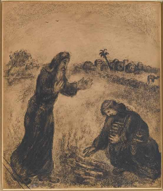 Marc-Chagall, 1956 -- elijah-met-at-the-gate-of-zarephath-a-widow-trying-to-collect-firewood