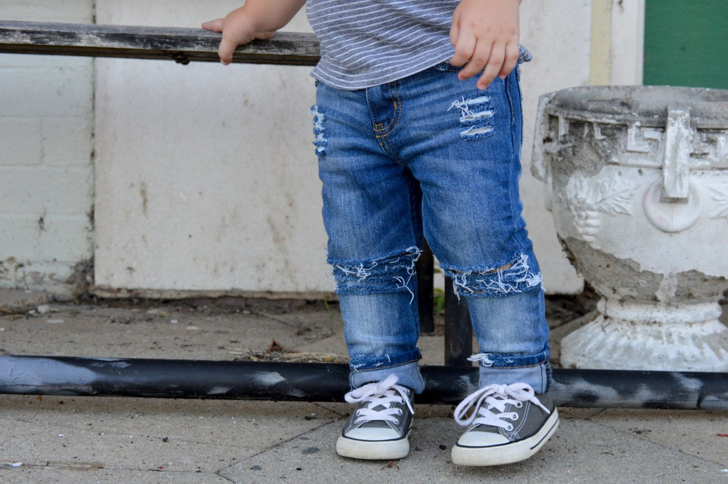 The Quot Farm Fresh Original Quot Distressed Jeans For Babies And