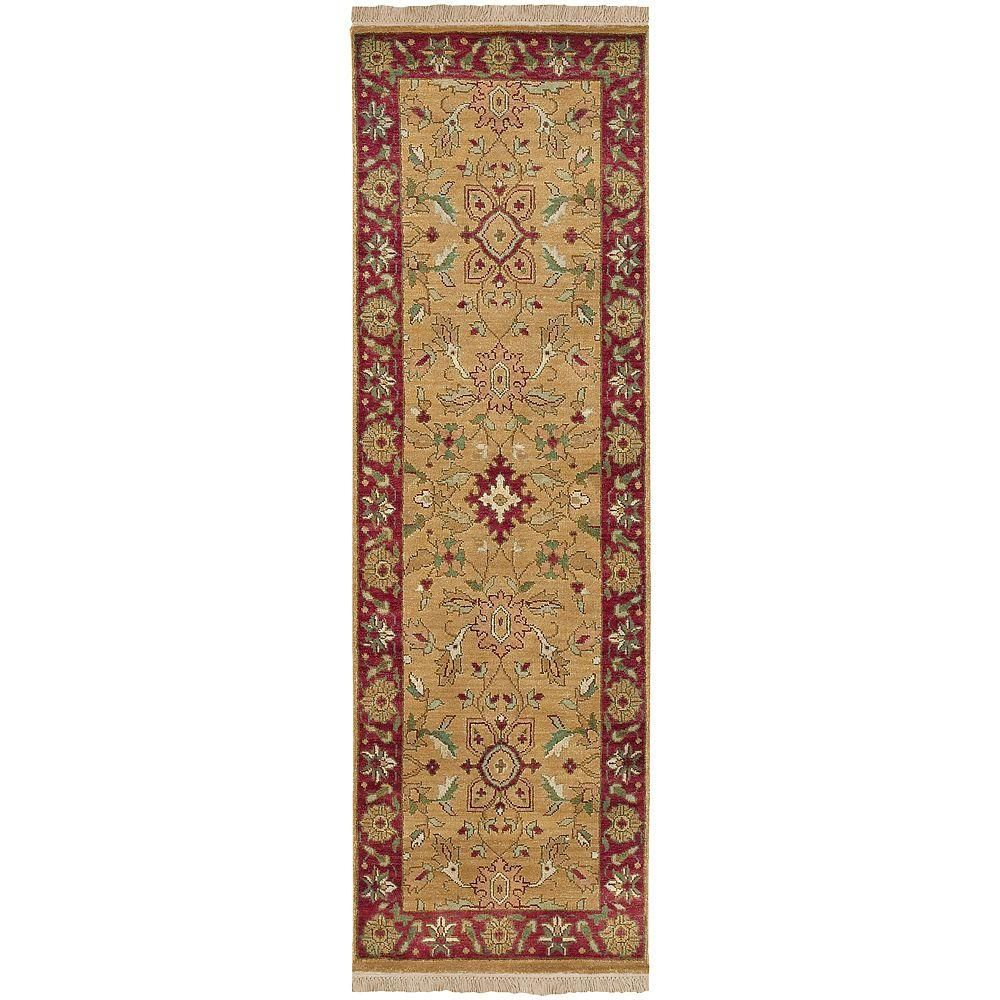 Genoa Gold 2 ft. 6 in. x 8 ft. Rug Runner