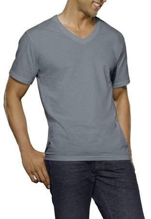daa41de681 Fruit of the Loom Big Men's Dual Defense Black/Gray V-Neck T-Shirts, 4 Pack