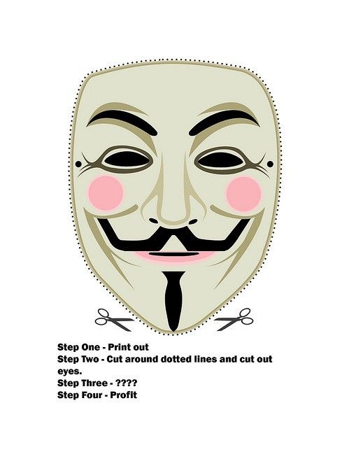 A History of the Anonymous Mask | 6 7 8 | Pinterest | Anonymous mask ...