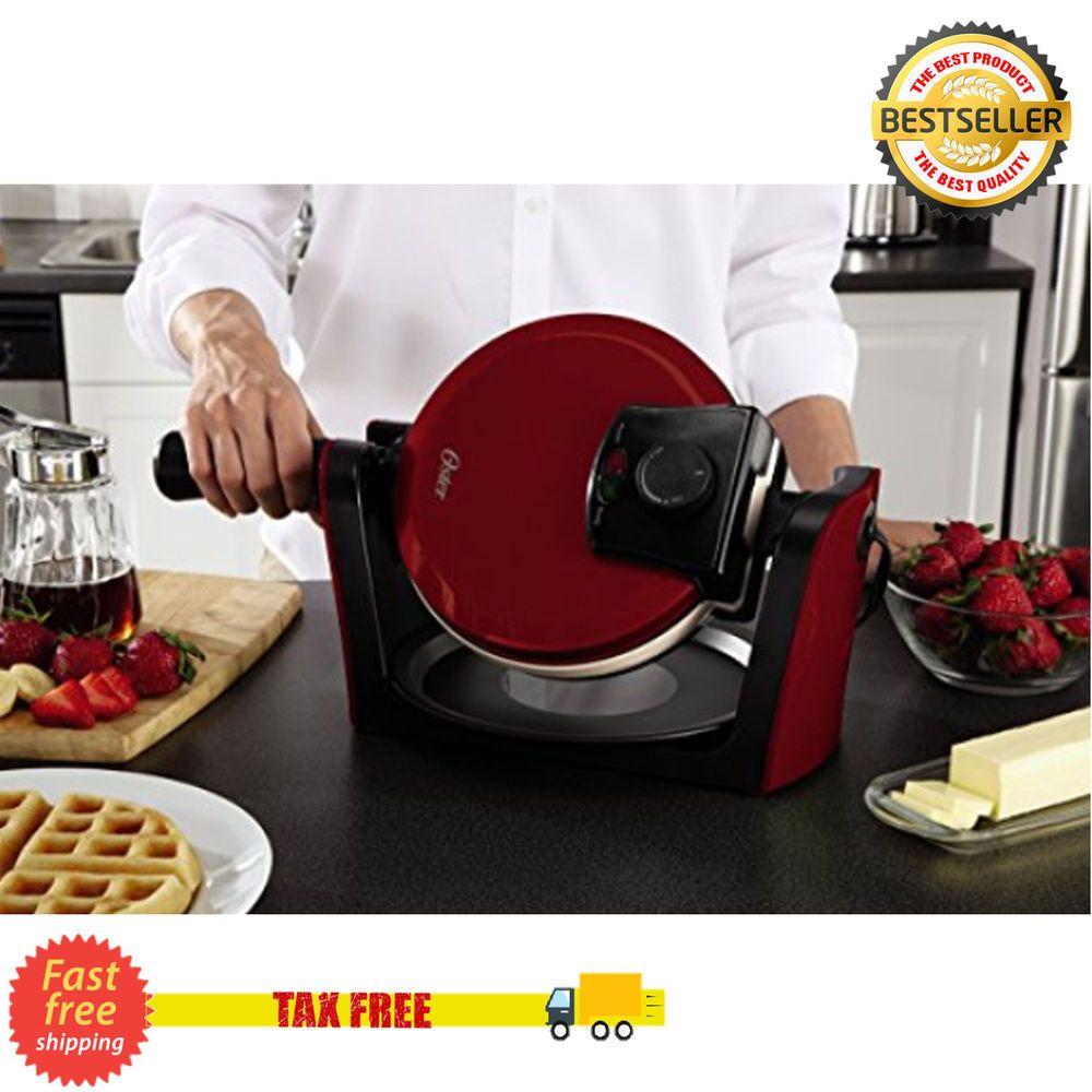 Belgian Waffle Maker Commercial Double Waring Breakfast Iron Kitchen Heavy NEW