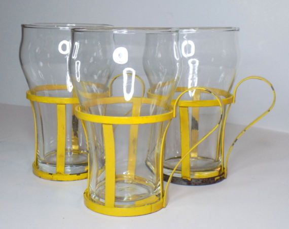 1970s Glasses with Removable Metal Base by TimeEnoughAtLast