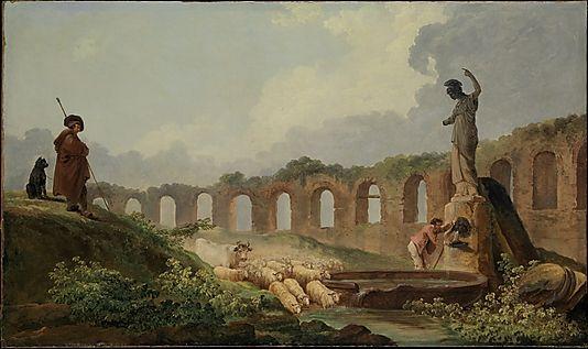 Aqueduct in Ruins Hubert Robert (French, Paris 1733–1808 Paris) Medium: Oil on canvas