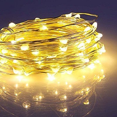 Battery Operated Led Light, Moliker 2 Set 16.4ft 50 LED Batterie intérieure Exploité WEDDING Guirlande lumineuse blanche Ampoules PARTY Xmas Noël (Blanc Chaud)