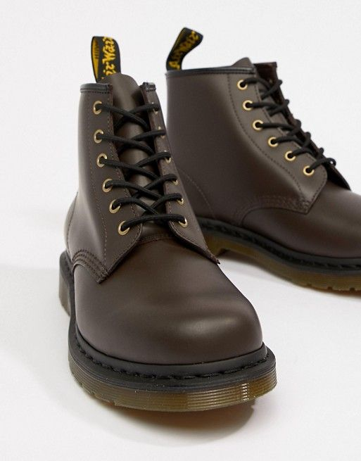 sneakers for cheap online retailer popular stores Dr Martens 101 6-eye boots in chocolate | boots | Boots, Dr ...
